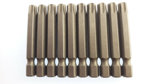 Torx TS40 TS 40 T40 T Screwdriver Drill Power Insert Bit 50 Pack bulk with hole