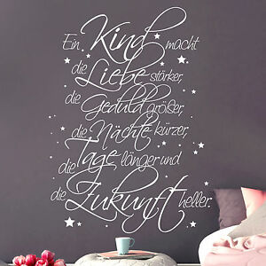 12242 wandtattoo spruch ein kind familie zukunft gl ck leben liebe sticker ebay. Black Bedroom Furniture Sets. Home Design Ideas