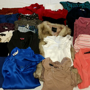 Womens-Small-Clothes-Huge-Lot-58-Piece-Mixed-Clothing-Tops-Pants-Jackets-Sweater