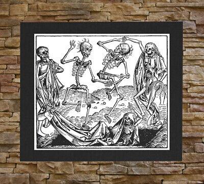 Memento Mori Back Patch Danse Macabre Dance of Death Remember Skeleton Occult