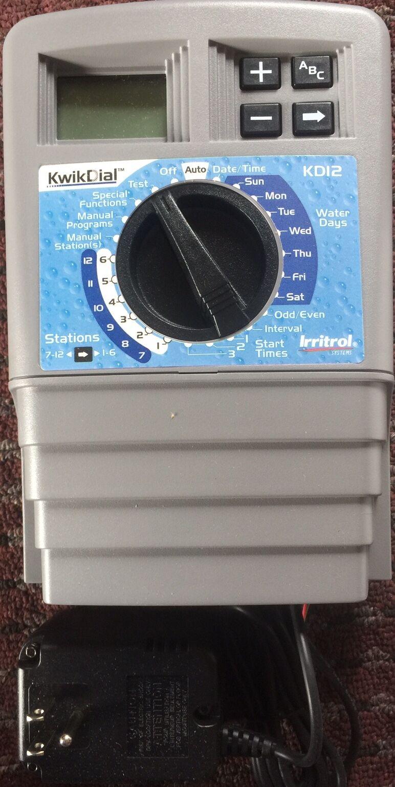 Irritrol 12 12 12 Station KwikDial Sprinkler System INDOOR Controller KD12-INT 707730