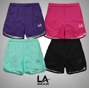 Junior-Girls-Branded-LA-Gear-Lightweight-Woven-Shorts-Bottoms-Size-Age-7-13