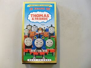 Thomas-The-Tank-Engine-amp-Friends-10-Years-Of-Best-Friends-VHS-Cassette-Tape