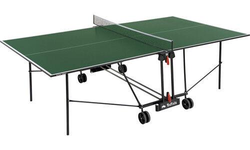 9ft ITTF Regulation Buffalo Indoor Table Tennis Table In Green