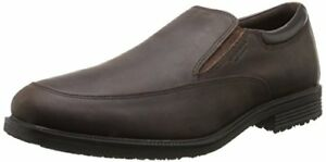Rockport-Homme-Donnees-essentielles-Impermeable-Slip-On-Dark-Tan-Selectionnez-La-Taille-couleur