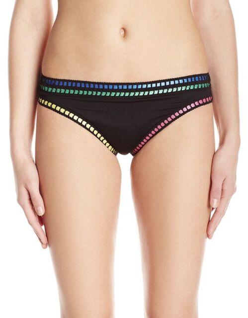 New. La Blanca 5080 Womens Threading Along Black Swim Bottom Separates 14 $57