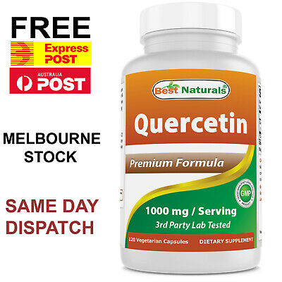Details about  Best Naturals Quercetin 1000mg 120 Cap DOUBLE STRENGTH POWERFUL IMMUNE SUPPORT