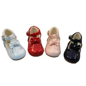 95cd95e13b81 Image is loading Baby-Shoes-Girls-Walking-Diamante-Bow-Shoe