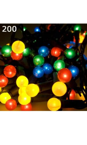 Multi Colour LED Berry Lights 7 Flashing Effects Static Christmas Tree Fairy