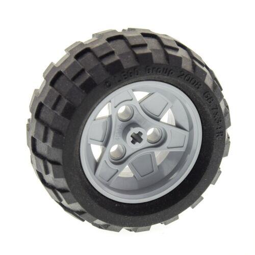 1x Lego Technic Rad schwarz 68.7x34 R neu-hell grau 4539110 4211788 41896c03