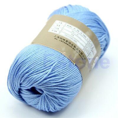 50g 1 Skein Soft Yarn High Quality Natural Silk Cotton Baby Sweater Knitting Hot