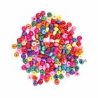 500 Pcs 4mm Colorful Rondelle Wood Spacer Loose Beads For Jewelry Making DIY