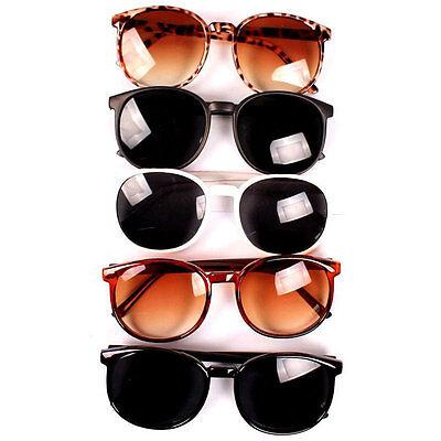 New Vintage Retro Men Women Round Plastic Frame Sunglasses Glasses Eyewear