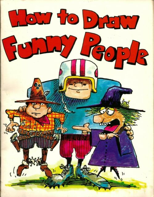 """How to Draw Funny People"" by Bob McKay (1981) Paperback"