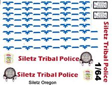Siletz Tribal Police Crusier 1/64th HO Scale Slot Car Waterslide Decals