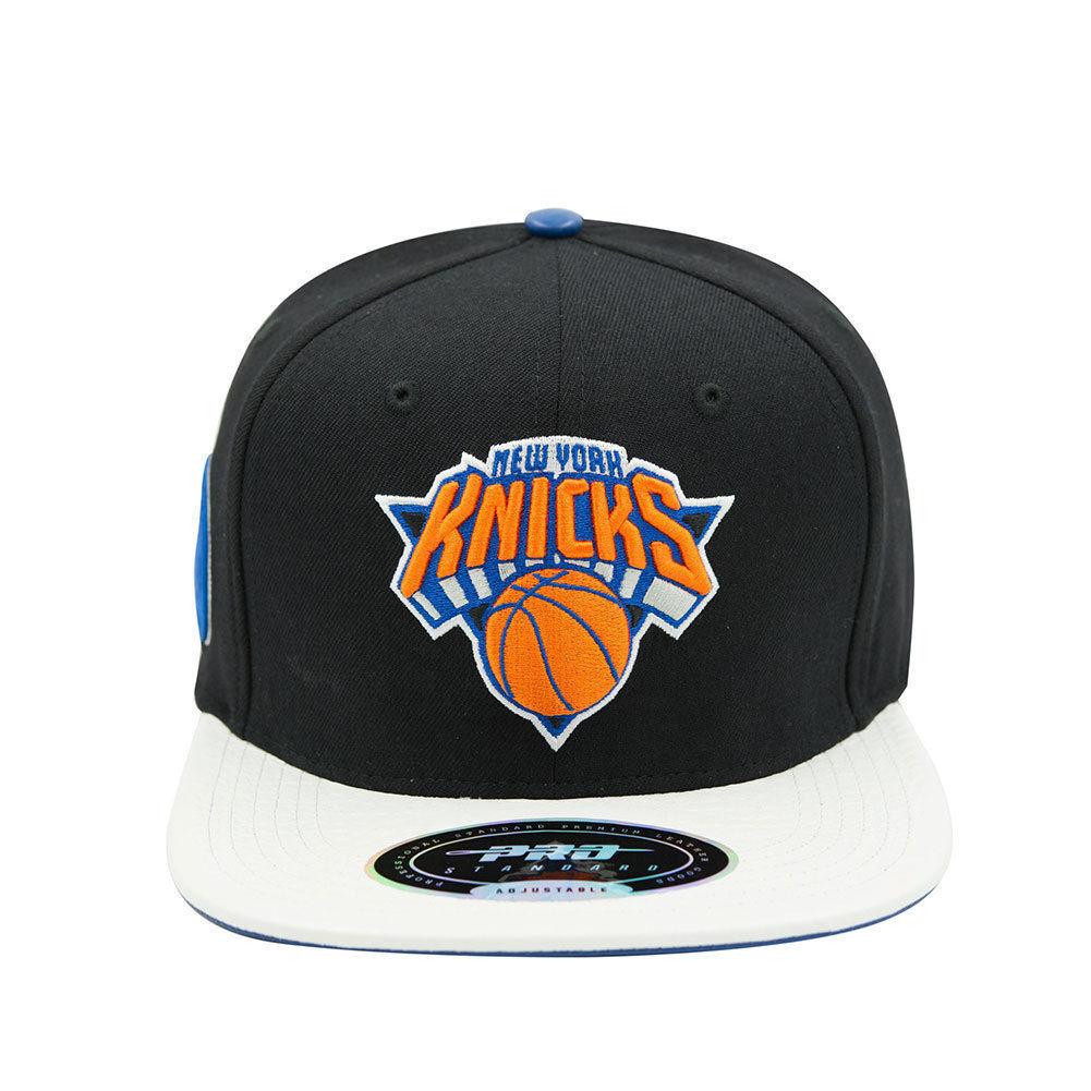 info for 2fb11 7e5b0 ... shop pro standard nba cap hat new york knicks strapback cap hat nba  black white blue