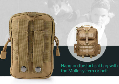 Tactical Molle Pouch Belt Pack Hiking Camp Wallet Pocket Fanny Waist Bags