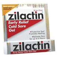 Zilactin Cold Sore Gel, Medicated Gel 0.25 Oz (pack Of 2) on sale