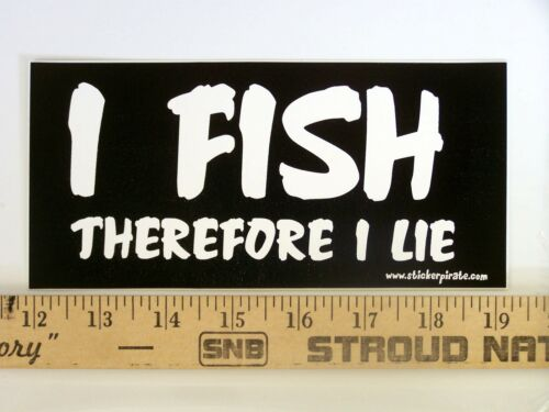 * Magnet I Fish Therefore I Lie Magnetic Bumper Sticker