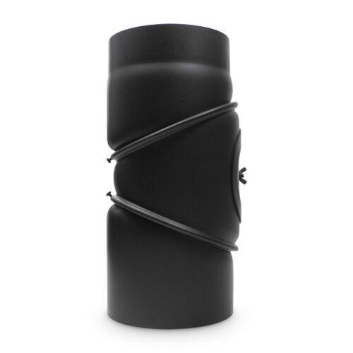 Rohrbogen Kniebogen Ofenrohr 0-90° DN 150 mm Schwarz Bogen verstellbar