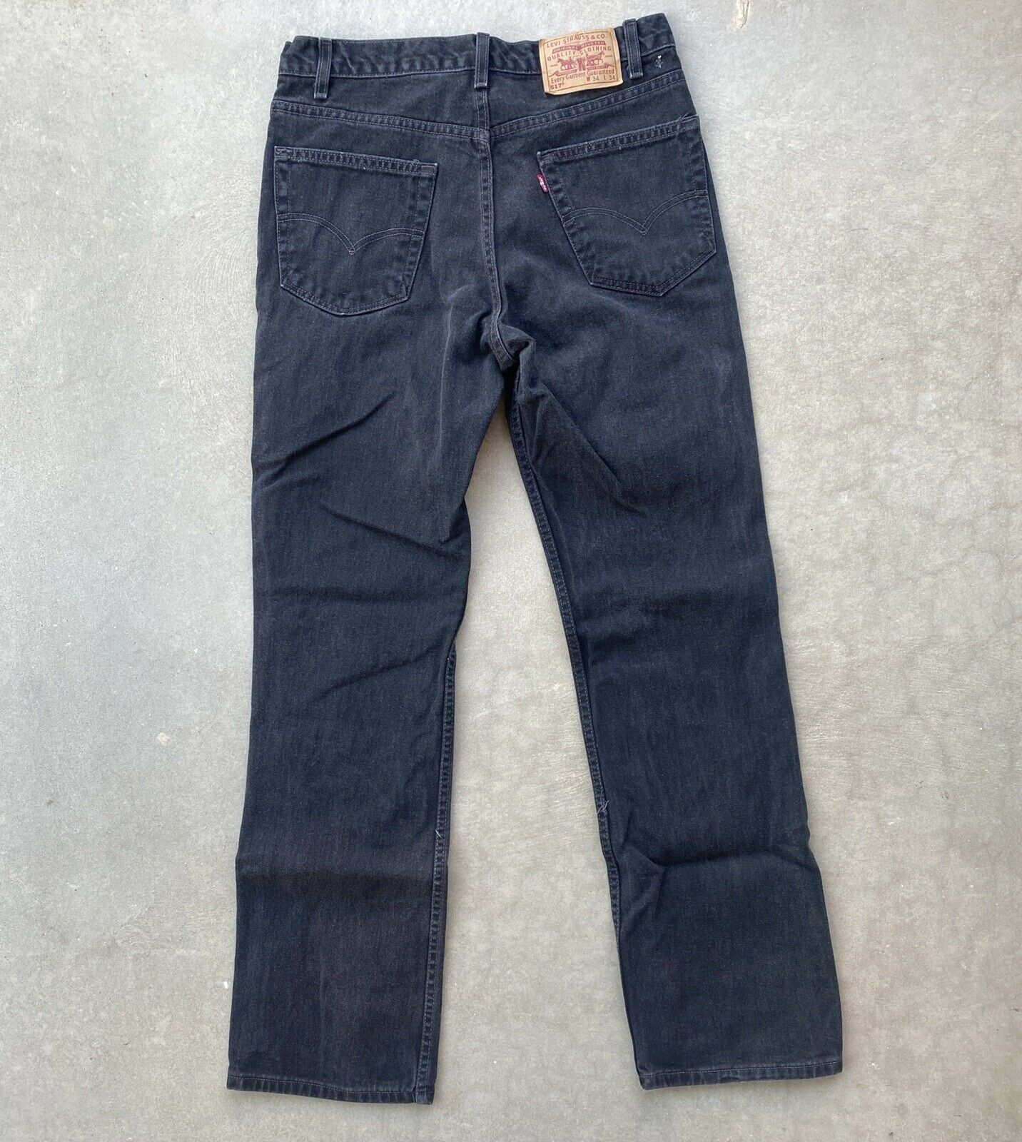 Vintage Levis 517 34x34  made in USA Black Relaxe… - image 3