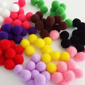 100PCS-Pom-Pom-Wool-Felt-Balls-Hand-Beads-Nursery-Christmas-DIY-Craft-Fashion