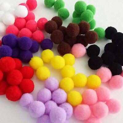 100PCS Pom Pom Wool Felt Balls Hand Beads Nursery Christmas DIY Craft Lovely ~
