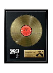 rgm1357-LEONARD-COHEN-SONGS-OF-LOVE-AND-HATE-dore-Disque-24K-plaque-LP-30-5cm