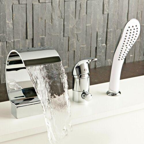 Luxus 3 Loch Set Badewannen Armatur Handbrause Badewanne Wasserfall Wannenrand