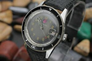 Vintage-BAYLOR-By-RADO-Captain-Cook-Stainless-Steel-Men-039-s-Diver-039-s-Watch