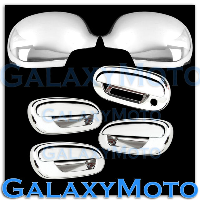 97-02 Ford Expedition Chrome Mirror+4 Door+w/Keypad+no PSG Keyhole Handle Cover