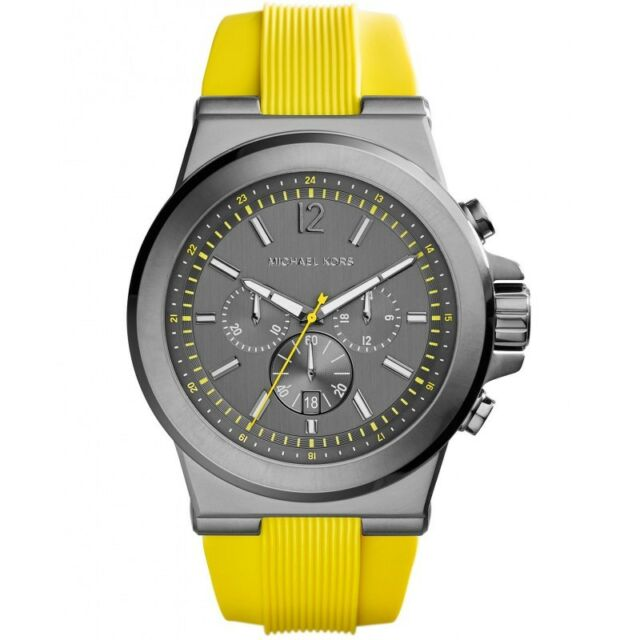 a7ae15360cf2 Michael Kors Dylan Gunmetal Stainless Steel and Silicone Men s watch MK8356