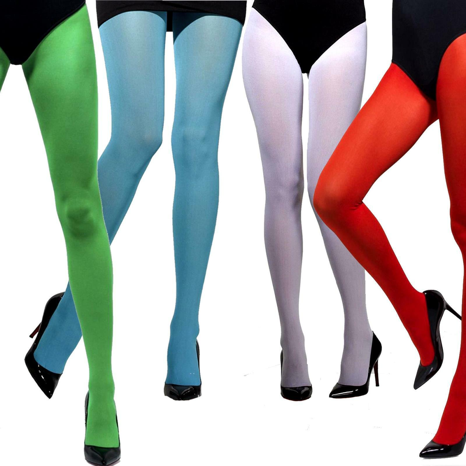 Red Tights Opaque 15 Denier Ladies Devil Temptress Fancy Dress Accessory