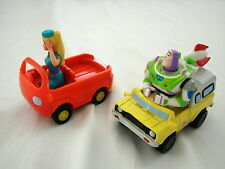 Vintage Toy Story Friction Push Diecast Cars - Barbie and Buzz Lightyear