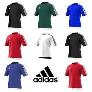Adidas-Garcons-Estro-T-Shirt-a-Manches-Courtes-Football-Top-Kids-Training-Jersey-M-L-XL