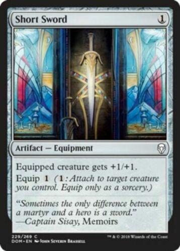 Common Artifact DOM Dominaria 4x MTG: Short Sword Magic Card
