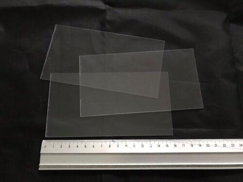 DIY Art 1 x Sample of Clear PVC Plastic Sheet 160x85x0.6mm Model Making Craft