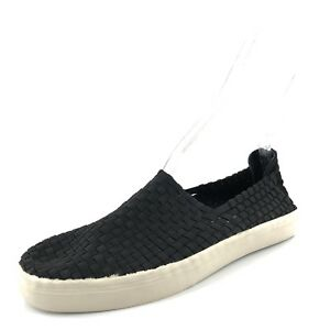 cdb5dda3498 Steve Madden Exx Black Woven Slip On Sneaker Loafers Women s Size ...