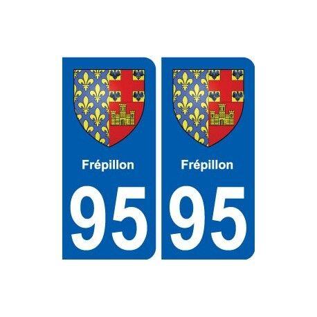 95 Frépillon blason autocollant plaque stickers ville droits