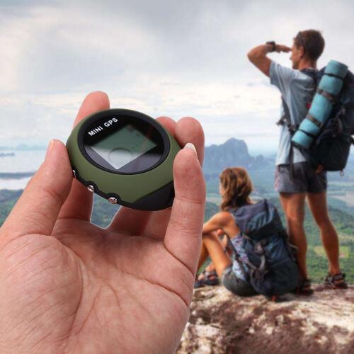 Mini GPS Locator Navigator Location Tracker Receiver With Keychain Army Green