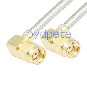 SMA male right angle to RP SMA male RF lot RG402 Semi Flexible blue jumper Cable