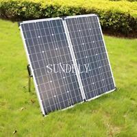 150w 12v Folding Solar Panel Charging Kit Caravan Motorhome Campervan Boat