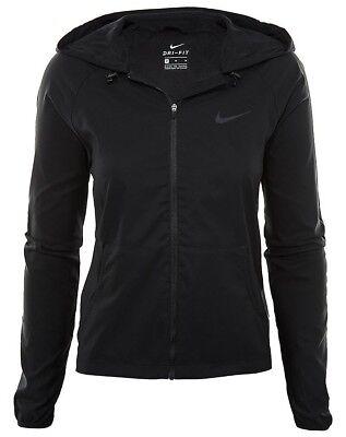 Dettagli su Nike Cerniera Intera Formazione Felpa Con Cappuccio Felpa Con Cappuccio Dri Fit donna XS Nero mostra il titolo originale