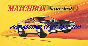Matchbox-Toys-Boss-Mustang-44-Superfast-obra-de-arte-cartel-Tienda-Pantalla-signo-prospecto
