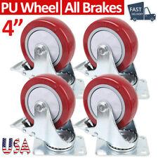 Heavy Duty 4caster Wheels Swivel Plate Wheels Furniture Trolley Castor Brakes