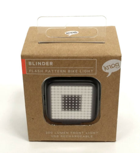 Knog Blinder Front Square Bicycle Light USB Rechargeable