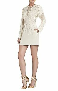 NEW-BCBG-MAX-AZRIA-FRENCH-CREAM-LAKE-RHINESTONE-APPLIQUE-RFK6Y442-M254-SIZE-XXS