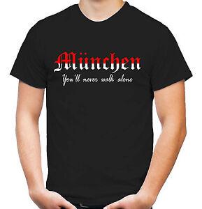 Muenchen-Triumph-T-Shirt-Fussball-Ultras-Isar-Maenner-Herren-red