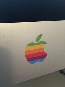 2-x-Retro-Apple-Logo-Adhesivo-Vinilo-Apple-iMac