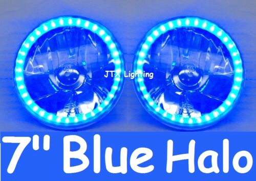 "7"" Halo Blue Headlights Lights Holden E Series EJ EK EH"